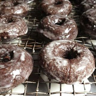 Gluten-Free Baked Chocolate Doughnuts.