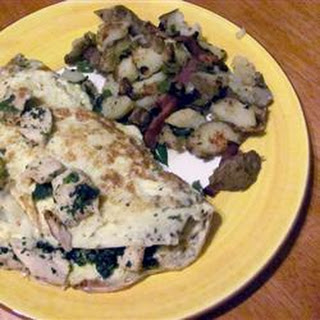 Herbed Chicken Omelet.