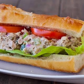Tuna Salad with Pecans and Raisins.