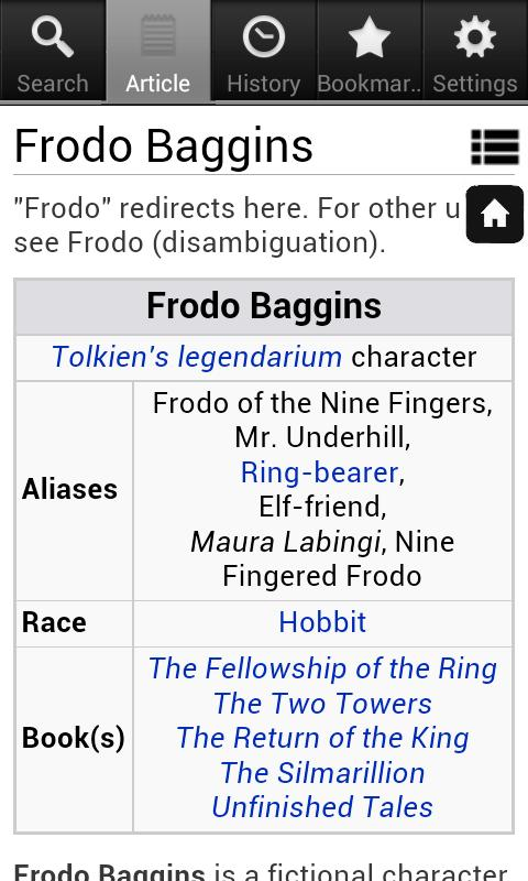 Lord of the Rings Encyclopedia - screenshot