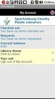 Screenshot of SCPL Mobile