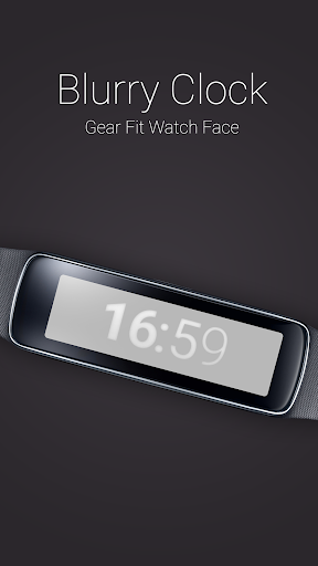 Blurry Clock for Gear Fit