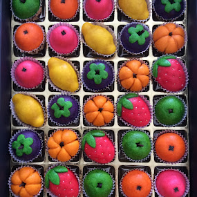 colorful tarts by Mary Yeo - Food & Drink Candy & Dessert ( , Food & Beverage, meal, Eat & Drink, vertical lines, pwc, colorful, mood factory, vibrant, happiness, January, moods, emotions, inspiration )