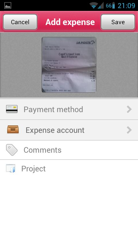 Xpenditure - Expense Reports - screenshot