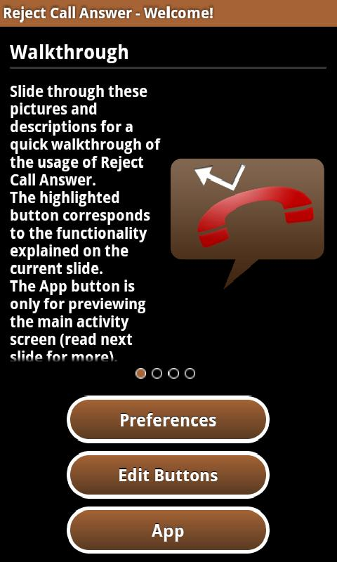 Reject Call Answer - screenshot