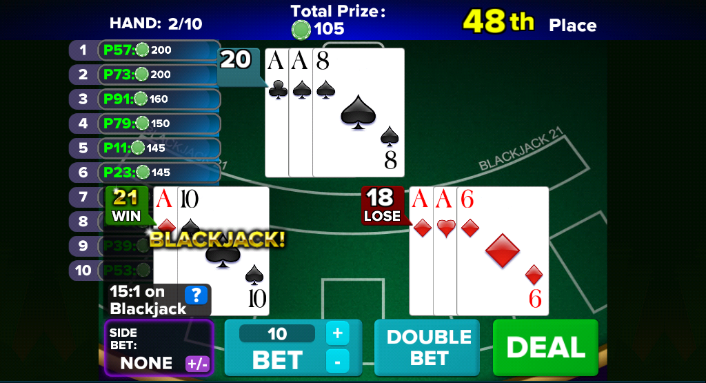 Blackjack 21 HD - screenshot