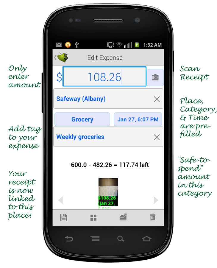 Printable Receipt Templates Word Scan Receipts  Track Expenses  Android Apps On Google Play Read Receipts Email Word with Receiving Receipt Sample Excel Scan Receipts  Track Expenses Screenshot Nih Receipt Dates Word