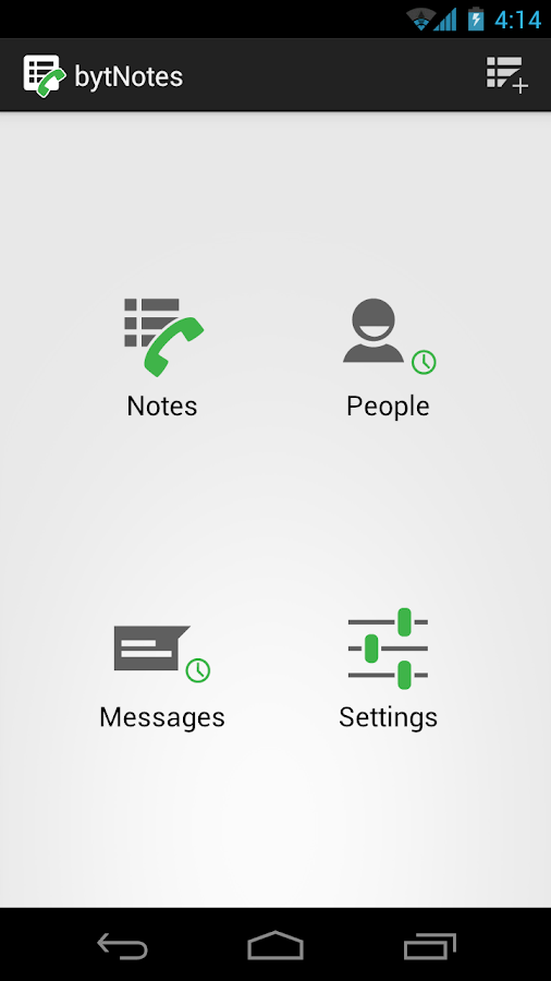 bytNotes - Call Reminder Notes - screenshot