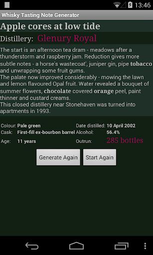 Whisky Note Generator  screenshots 1