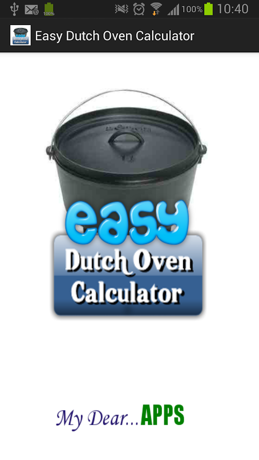 Easy Dutch Oven Calculator- screenshot