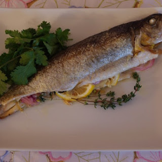 Whole Rainbow Trout With Lemon, Fennel And Shallots