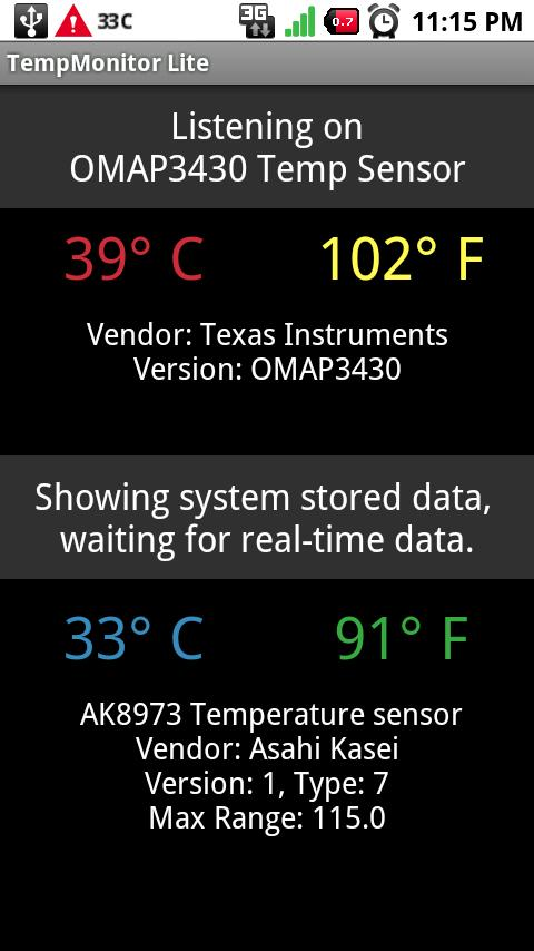 TempMonitor Lite- screenshot