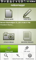 Screenshot of NotesMappr - Notepad Notes