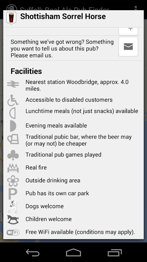 Suffolk Real Ale Pub Finder- screenshot