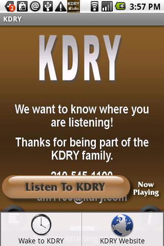 Christian Radio KDRY AM 1100 - screenshot