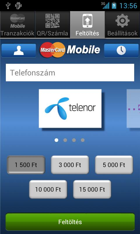 MasterCard Mobile - screenshot