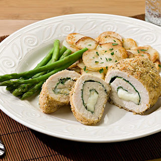 Spinach & Mozzarella Stuffed Chicken.