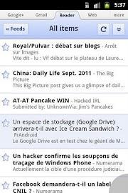 Zirco Browser Screenshot 1