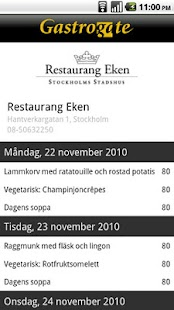 Gastrogate restaurangguide - screenshot thumbnail