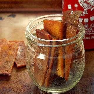 Spicy Sriracha Tofu Jerky.