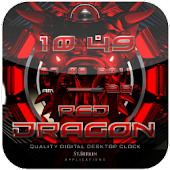 Red Dragon digital Clock