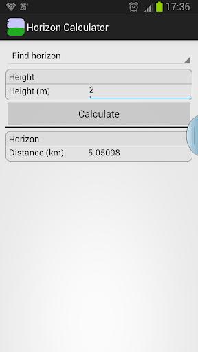 Horizon Calculator