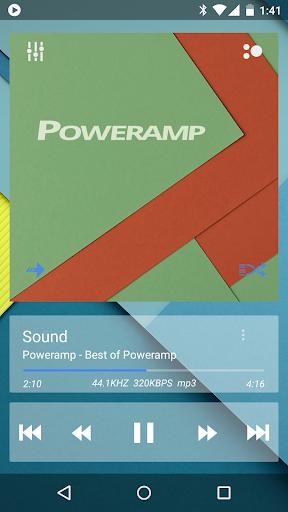Skin for Poweramp Now TRSPRNT  screenshots 1