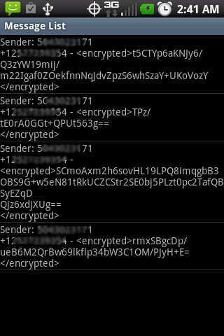 SMS Encrypto - screenshot