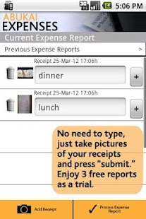 Expense Reports, Receipts- screenshot thumbnail