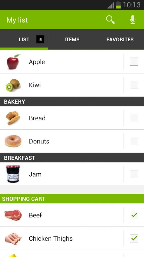 Shopping List - myShopi - screenshot