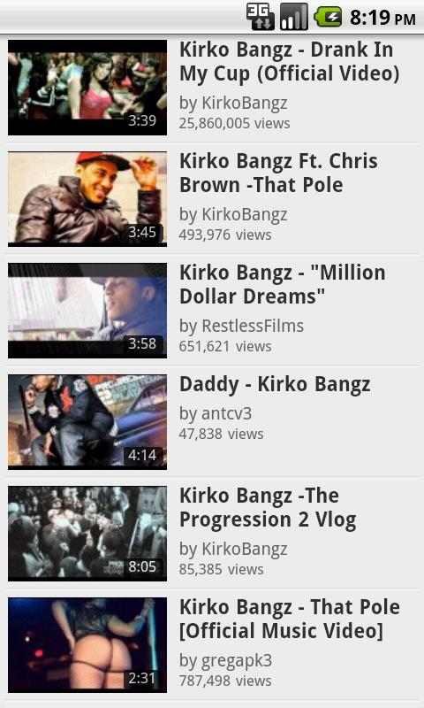 Kirko Bangz Fan App - screenshot