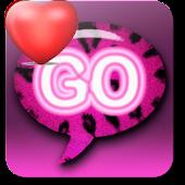 Pink Leopard theme GO SMS QT
