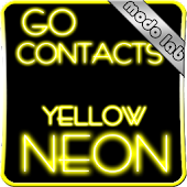 Yellow Neon GO contacts theme