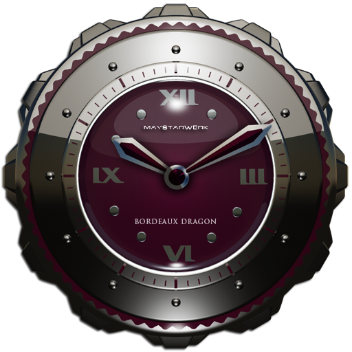 Dragon Clock Widget bordeaux