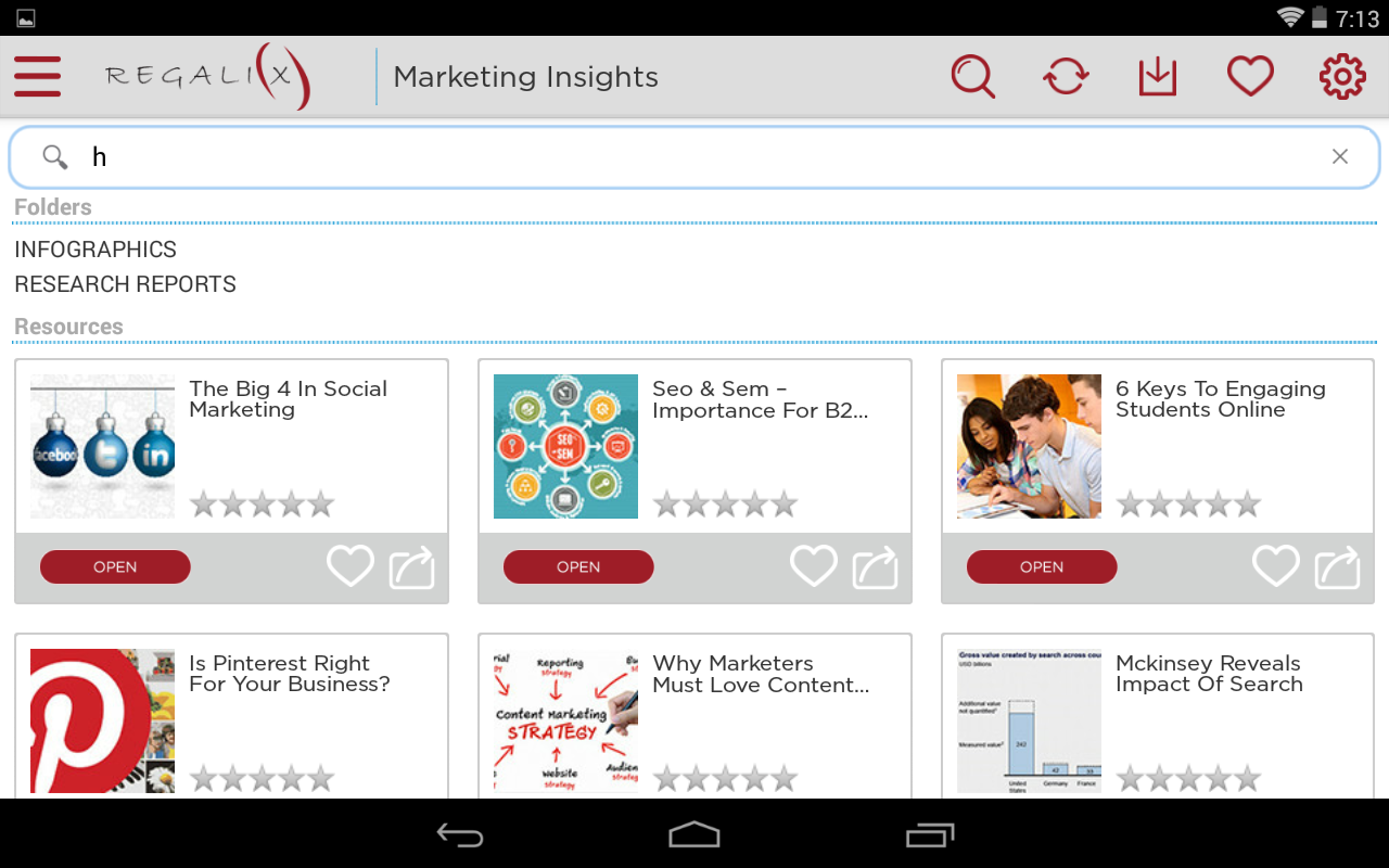 REGALIX MARKETING INSIGHTS- screenshot