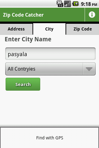 Zip Code Catcher - screenshot