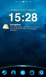 Blue Planet Theme GO Launcher - screenshot thumbnail