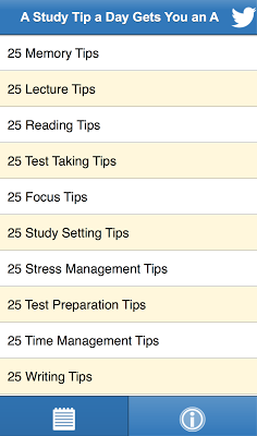Study Tips - screenshot
