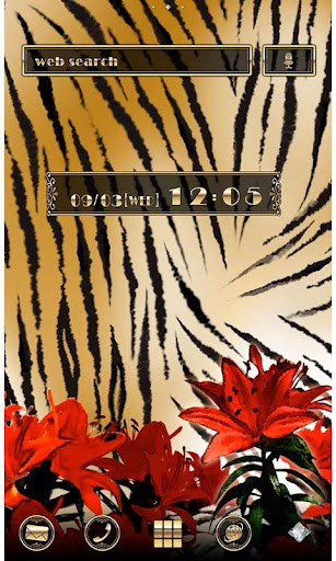 Golden Theme-Tiger, Lilies- 1.0 Windows u7528 1