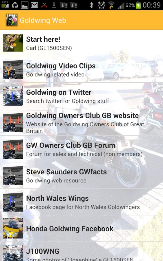 Goldwing Web- screenshot