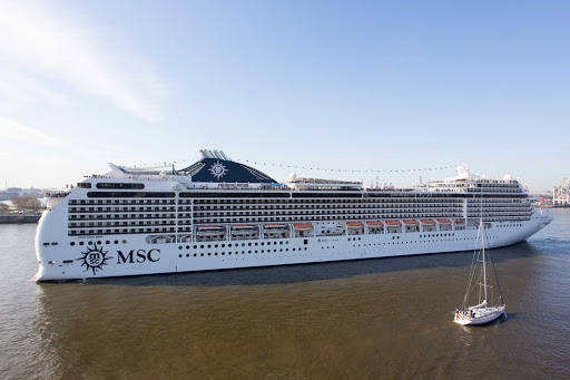 MSC-Magnifica-side-view - The 2,500 passenger MSC Magnifica sails to ports across the Mediterranean and along South America.