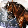 Horse and Winter Scenery alive APK icon