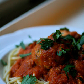 "Fish ""Meatballs"" in Spicy Red Pepper Sauce."