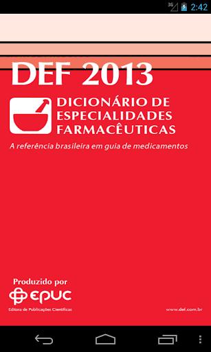 DEF - Dicionário Farmacêutico