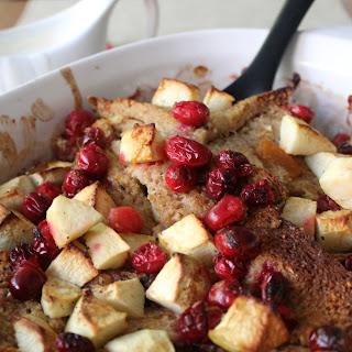 Cranberry, Apple & Marmalade Bread Pudding