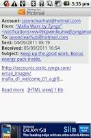 Screenshot of Windows Live Hotmail PUSH mail