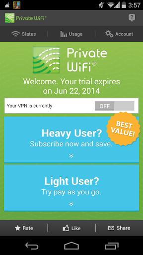PRIVATE WiFi a Secure VPN