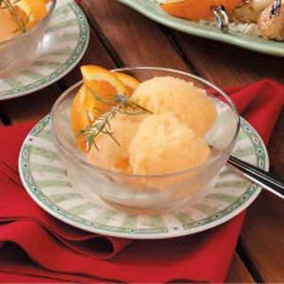 Orange Rosemary Sorbet