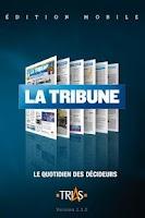 Screenshot of La Tribune pour tablettes