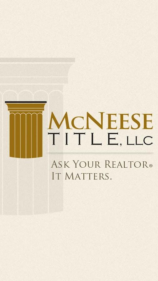 McNeese Title, LLC.- screenshot